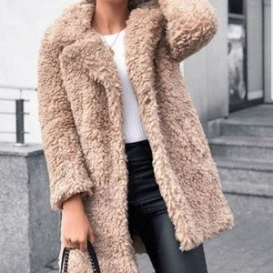 DEB Faux Fur Coat - Tan